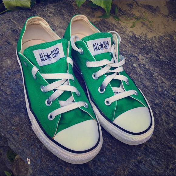 8fa909bae14 Converse Shoes - Converse All Star Kelly Green Low Top Sneakers