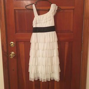 White Dress with Black Sash