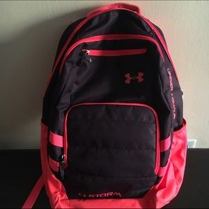 863624550677 Under Armour Bags - Under Armour Storm Pink Backpack Preloved