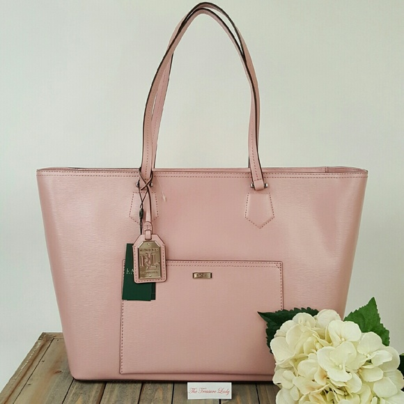 00dec2d6c8fd Ralph Lauren Bags | Lowell Tea Rose Pink Tote Bag Handbag | Poshmark