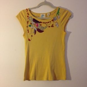 Anthropologie Tops - Anthropologie embroidered tee