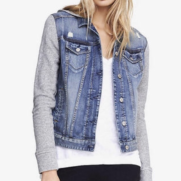 Jean jacket with grey sweater – Jackets photo blog