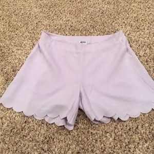 ASOS Lavender Scallop Hem Shorts