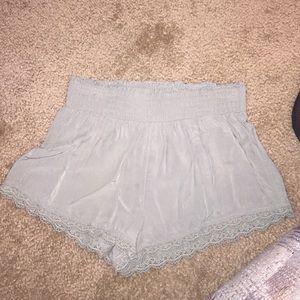 XS hollister green shorts