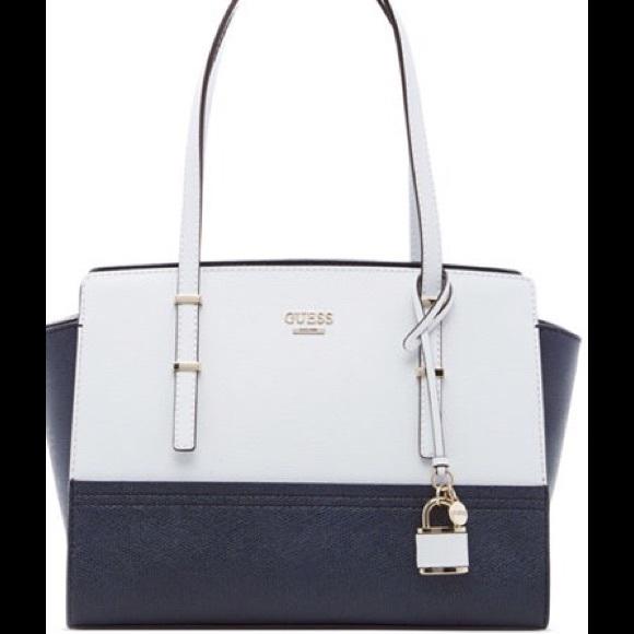 43% off GUESS Handbags - Guess handbag white/navy blue from ...