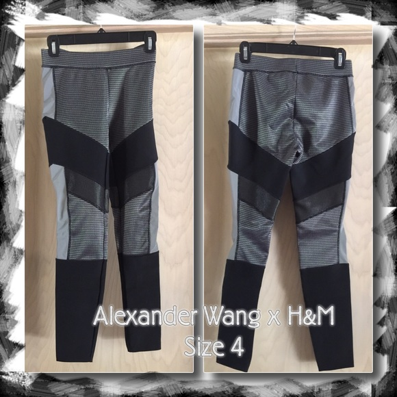 Alexander Wang x H&M Space Reflective Pants Size 4