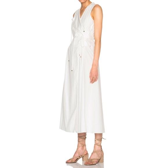 bae82cf7b5985 Rosetta Getty Cotton Poplin Tie Front Wrap Dress