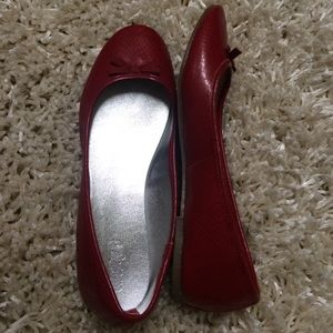 Shoes - BRIGHT RED FLATS!!!