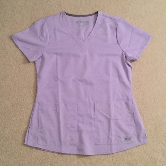 7d37d90544737 Grey's Anatomy scrub top - Lilac, size Small