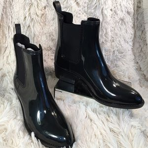 Jeffrey Campbell Shoes - Jeffrey Campbell Like New Black Rain Boot