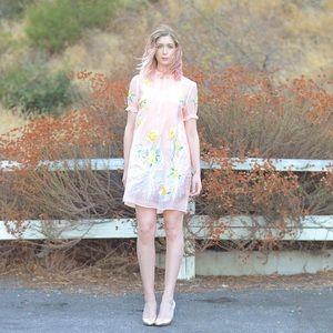 💚Dreamy Pastel Pink Two Piece Dress