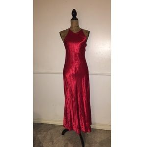Vintage Dresses & Skirts - Red ruby vintage gown size small
