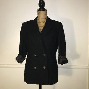 Vintage Jackets & Blazers - Vintage black blazer size medium
