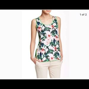 Vince Camuto Tropical Print Top, Size M, New