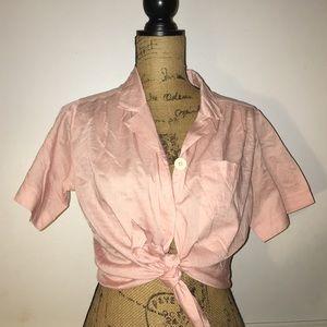 Vintage Tops - Pink vintage button up