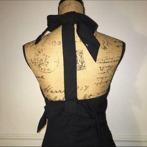 Vintage Dresses & Skirts - Black vintage open back bow dress