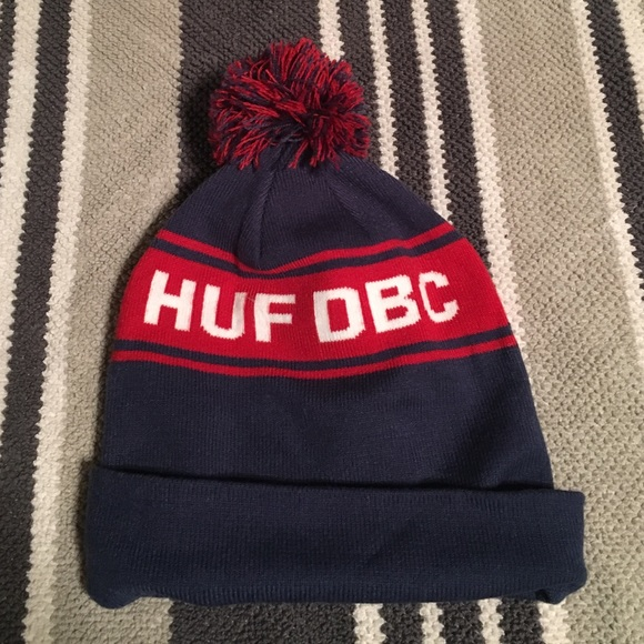 45c186eab8b Huf brand beanie NWT red   navy blue