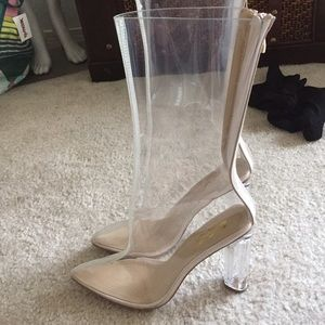 Clear Perpex Ankle Boot