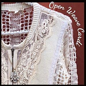 Boutique Sweaters - Lightweight Open Weave Cardi
