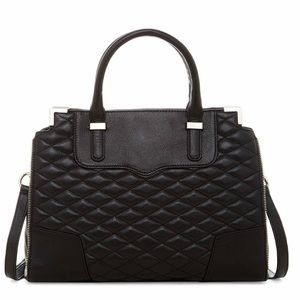 NWT Rebecca Minkoff Quilted Leather Satchel!