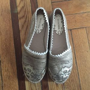 Marchesa Shoes - Marchesa espadrilles gold worn once