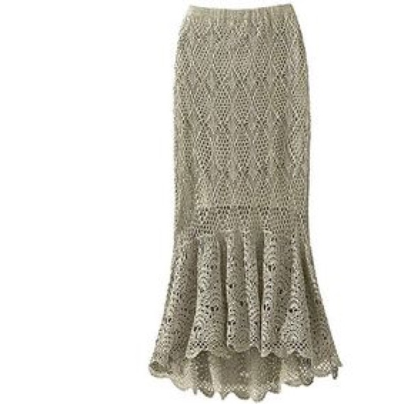 Free Crochet Pattern Maxi Skirt : 23% off Free People Dresses & Skirts - Crochet maxi skirt ...
