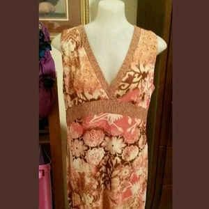 Axcess Dresses & Skirts - Access Liz Claiborne Patterned Surplice Dress XL