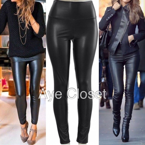 35bdf8262b030b Boutique Pants | Faux Leather Leggings High Waisted Fleece Lined ...