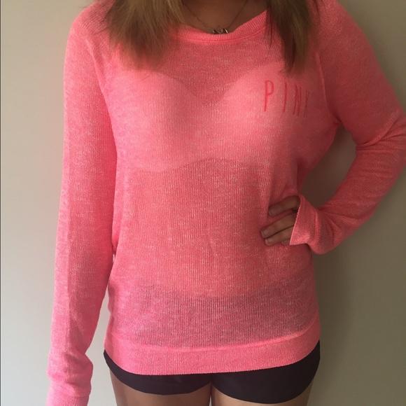 Pink Victorias Secret Tops Pink Vs Pink Knit Top Poshmark