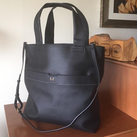 H by Halston Pebble Leather Tote Handbag 3d8e0f4ae152e
