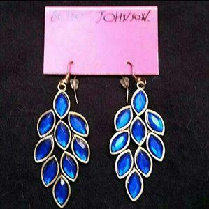 Betsey Johnson blue dangle earrings!