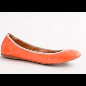 J. Crew Orange Stretchy Ballet Flats