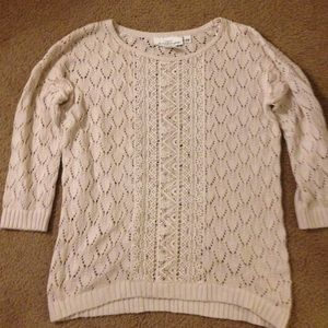 H&M Sweaters - H&M Cream Knit 3/4 Sleeve Pullover Sweater, sz XS