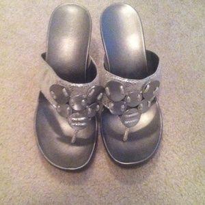 Calvin Klein silver sandals