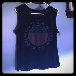 Navy USA Tank Sz XL NWT