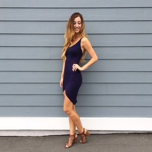 | new | navy tank dress
