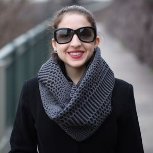 Emily Keller Accessories - NWT Reptile Knit Infinity Scarf Reversible