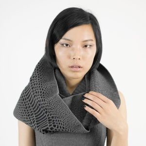Reptile Knit Infinity Scarf Reversible
