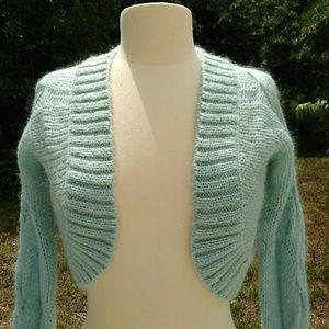 Sisley Sweaters - mohair blend blue crop sweater