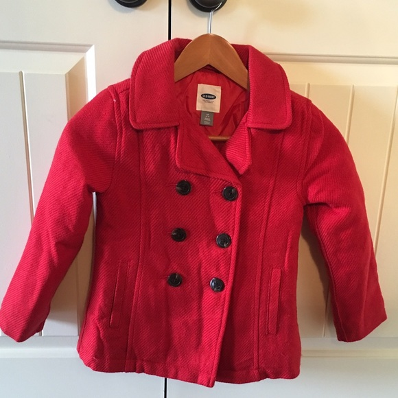 74% off Old Navy Other - Girls red pea coat from Beth&39s closet on