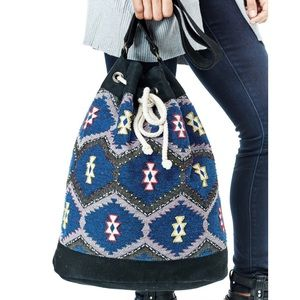 Southern Girl Fashion Handbags - ETHNIC BAG Pattern Crossbody Patchwork Bucket Tote