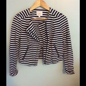 Striped Motto Jacket