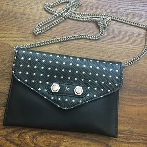 Danielle Nicole Handbags - Black & silver chain strap mini purse