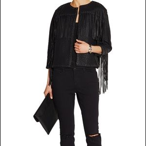 Malene Birger Jackets & Blazers - Malene Birger black leather fringe jacket