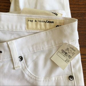 Rag & Bone White Legging Jeans