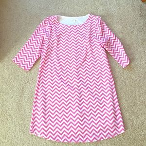 Everly Dresses & Skirts - Pink Chevron Everly Dress