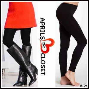 Boutique Pants - FLEECE LINED LEGGINGS FOOTLESS