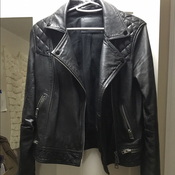 All Saints Conroy Leather Jacket Famous Jacket 2018