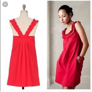 Red ANTHRO Dress