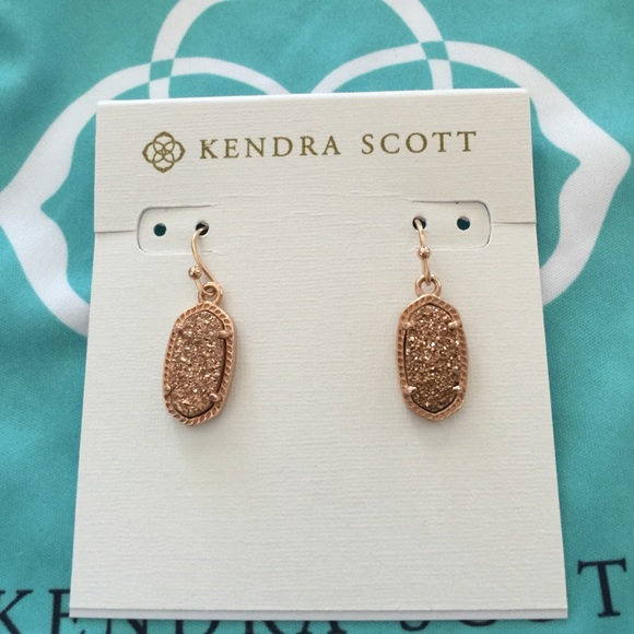 Kendra Scott Jewelry Rose Gold Drusy Lee Earrings Poshmark
